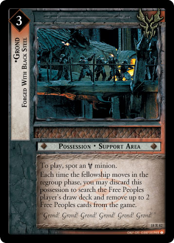 Grond, Forged With Black Steel (18R82) Card Image