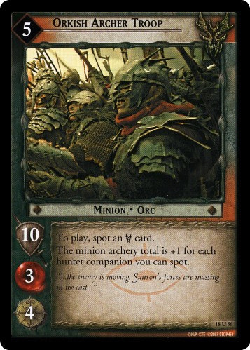 Orkish Archer Troop (18U86) Card Image