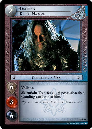 Gamling, Dutiful Marshal (18R99) Card Image