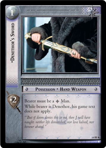 Denethor's Sword (F) (18RF8) Card Image