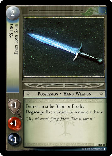 Sting, Elven Long Knife (F) (18RF16) Card Image
