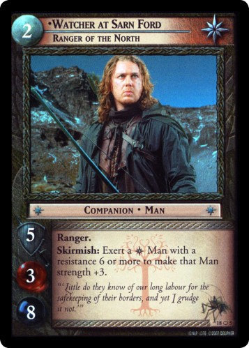 Watcher at Sarn Ford, Ranger of the North (O) (18O5) Card Image