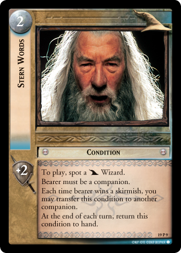 Stern Words (19P9) Card Image