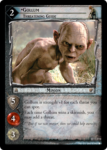 Gollum, Threatening Guide (19P10) Card Image