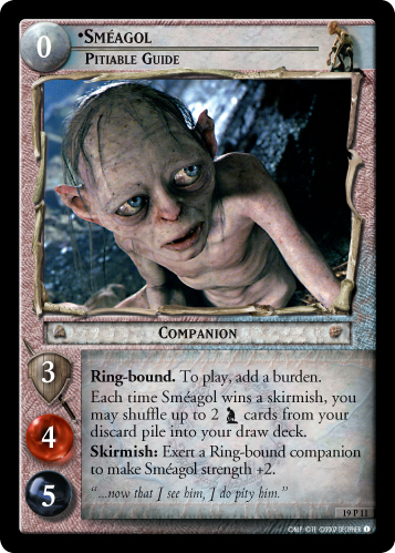 Smeagol, Pitiable Guide (19P11) Card Image