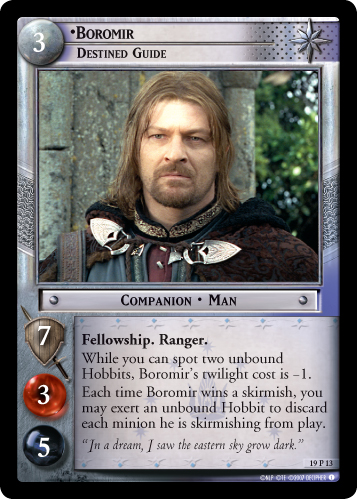 Boromir, Destined Guide (19P13) Card Image