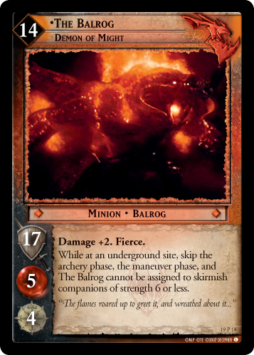 The Balrog, Demon of Might (19P18) Card Image