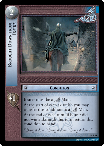 Brought Down From Inside (19P24) Card Image
