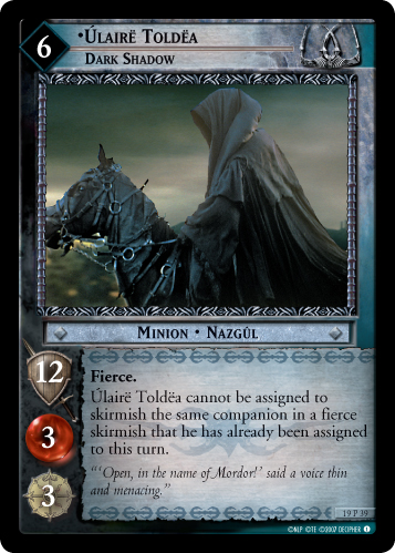 Ulaire Toldea, Dark Shadow (19P39) Card Image